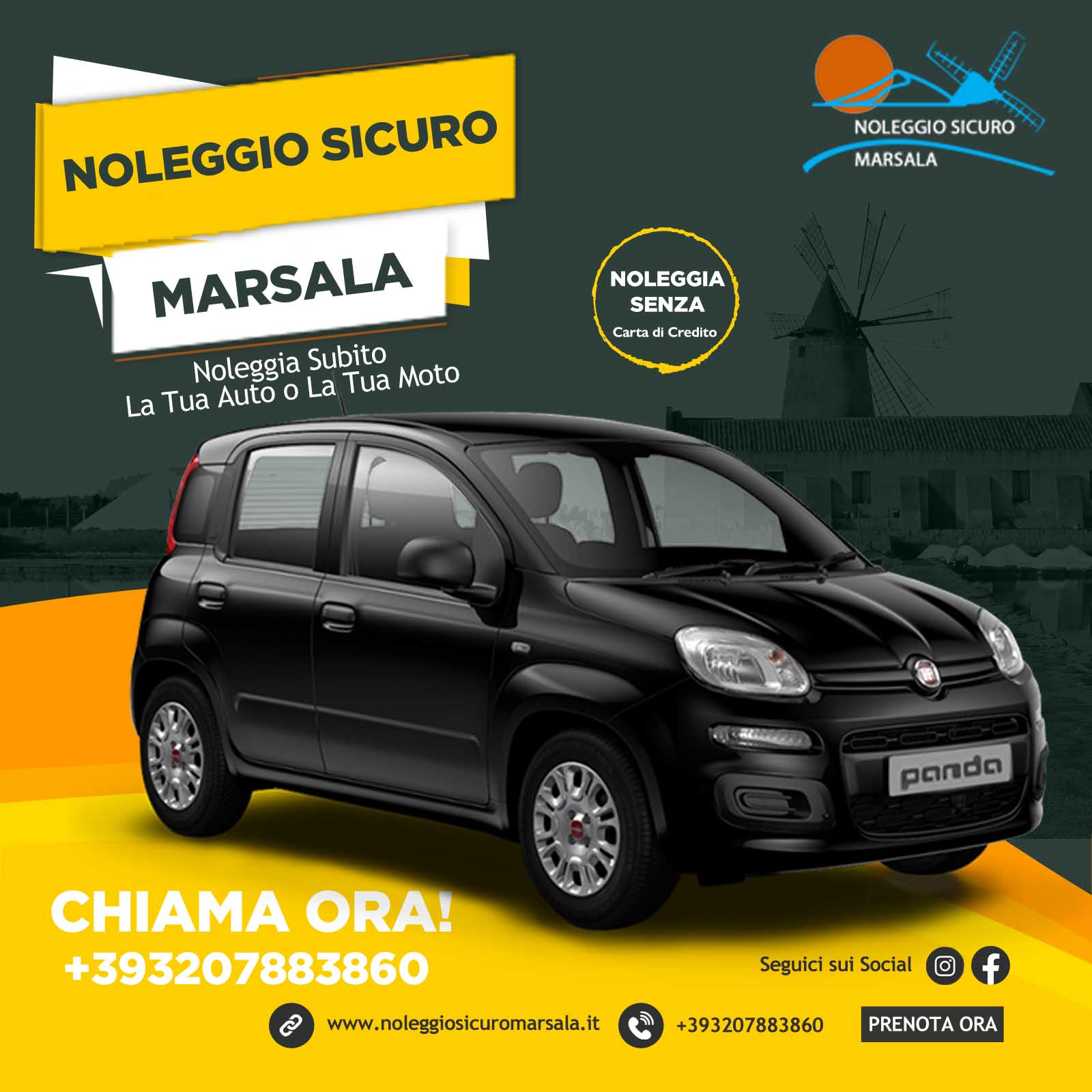 Noleggio Sicuro Marsala Rent Car Marsala Kite club Marsala IT